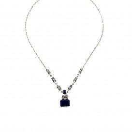 Collier en Argent 925 (Lapis lazuli et Marcassites)