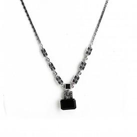 Collier Argent 925 (Onyx et Marcassites)